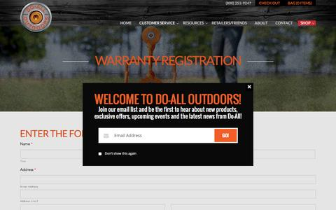 Warranty Registration | Do All Outdoors