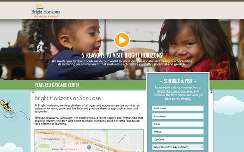 Screenshot of Landing Page brighthorizons.com - Bright Horizons® | Child Care, Back-Up Care, Early Education, and Work/Life Solutions - captured Aug. 17, 2016