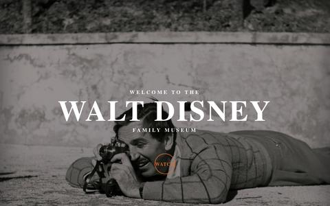 Screenshot of Home Page wdfmuseum.org - The Walt Disney Family Museum   Find animation, innovation, and inspiration and immerse yourself in the remarkable life story of Walt Disney. - captured March 18, 2016