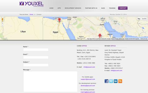 Screenshot of Contact Page youxel.com - Youxel - Contact Us - captured Oct. 27, 2014
