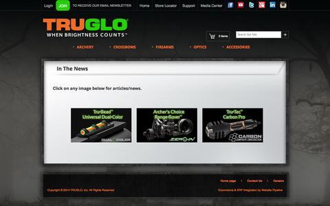 Screenshot of Press Page truglo.com - TRUGLO® | In The News - captured Sept. 24, 2014