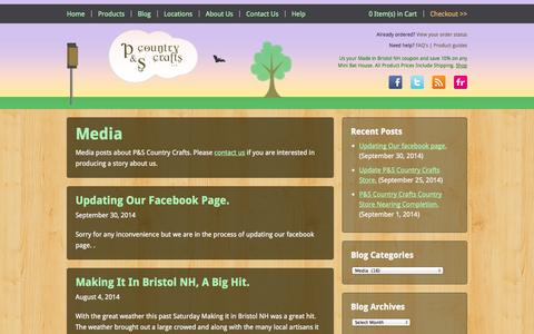 Screenshot of Press Page pscountrycrafts.com - Media | P&S Country Crafts - captured Oct. 1, 2014
