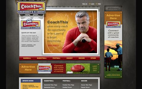 Screenshot of Home Page coachthis.com - CoachTHIS, Where Everyone is a Coach :: CoachTHIS, Where Everyone Is A Coach - captured Sept. 30, 2014