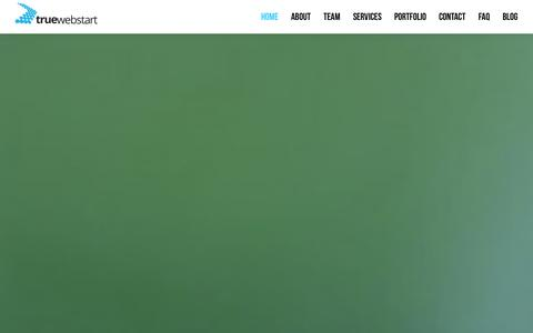 Screenshot of Home Page truewebstart.com - True Web Start | Creative Design Agency - captured Oct. 9, 2014