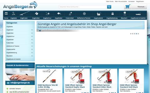 Screenshot of Home Page angel-berger.de - Viele günstige Angeln im Shop von Angel-Berger im Angebot - captured June 8, 2016