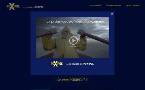 Screenshot of Home Page poxipol.com.ro - POXIPOL® - captured Jan. 25, 2017