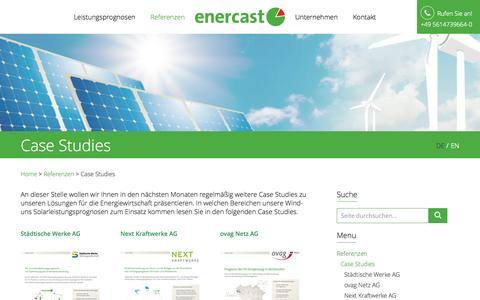Screenshot of Case Studies Page enercast.de - Case Studies - Enercast - captured Nov. 5, 2014
