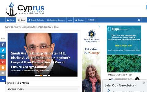 Screenshot of Press Page cyprusgasnews.com - Cyprus Gas News Energy Website The Leading Energy News Website. - captured Feb. 12, 2017