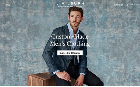 Screenshot of Home Page jhilburn.com - J.Hilburn - captured July 21, 2018