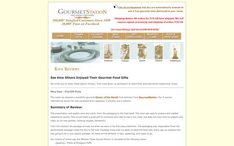 Screenshot of Testimonials Page gourmetstation.com - GourmetStation Reviews: Gourmet Food Gifts and Gourmet Dinners Delivered and Gourmet Meals - captured June 30, 2018