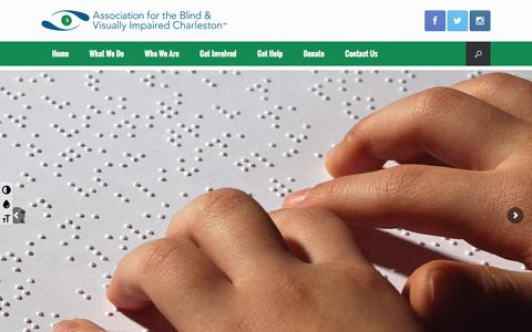 Screenshot of Home Page abvisc.org - Home - Association for the Blind and Visually Impaired - Charleston - captured Feb. 6, 2016