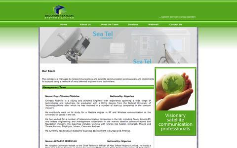 Screenshot of Team Page securesatcoms.com - Securenet Satcom Systems Limited - captured Oct. 3, 2014
