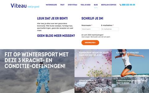 Screenshot of Blog viteau.nl - Blog | Viteau - Voel je goed - captured Dec. 16, 2016