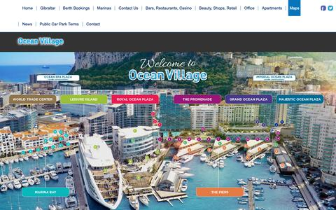 Screenshot of Maps & Directions Page oceanvillage.gi - Ocean Village Guide Map - Ocean Village - captured Oct. 18, 2018