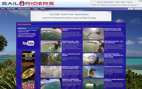 Screenshot of Press Page sailriders.com - Video Repository -- Sailriders - captured Sept. 30, 2014