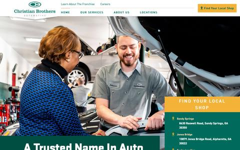 Screenshot of Home Page cbac.com - Auto Repair Service | Christian Brothers Automotive - captured Feb. 22, 2019