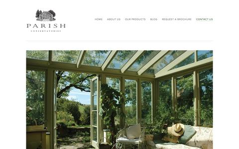 Contact Us Ń Parish Conservatories | Custom Conservatories | Orangeries | Sunrooms | Skylights | Shades | Bespoke | Home Design | Fairfield CT