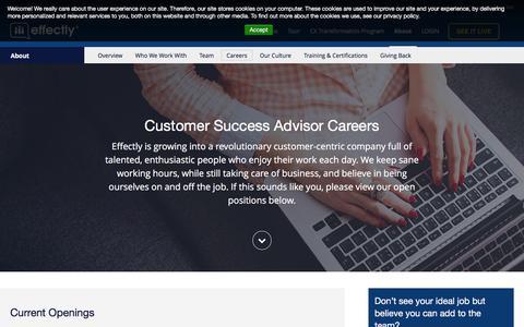 Screenshot of Jobs Page effectly.com - Joakim says... - captured Jan. 26, 2016