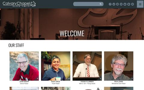 Screenshot of Team Page ccgreenvalley.org - Our Staff | Calvary Chapel Green Valley - captured Oct. 18, 2016