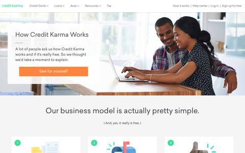 Screenshot of creditkarma.com - How it Works | Credit Karma - captured Sept. 20, 2017
