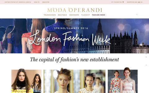 Screenshot of Home Page modaoperandi.com - london-ss16 | Moda Operandi - captured Oct. 2, 2015