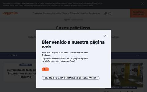 Screenshot of Case Studies Page aggreko.com - Casos prácticos | Aggreko - captured Dec. 28, 2017