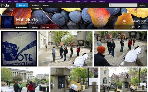 Screenshot of Flickr Page flickr.com - Flickr: Untied Council of UW Students' Photostream - captured Oct. 27, 2014