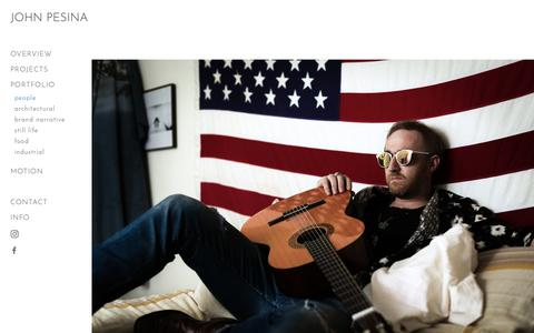 Screenshot of Team Page johnpesina.com - Austin-Commercial-Editorial-Photographer-Jonathan-Terrell-American-Flag-Acoustic-Guitar - captured Oct. 14, 2018