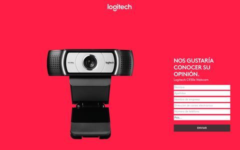 Screenshot of Landing Page logitech.com - Logitech C930e Webcam | Contact Us - captured July 23, 2017