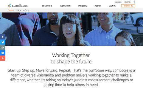 Life at comScore - comScore, Inc