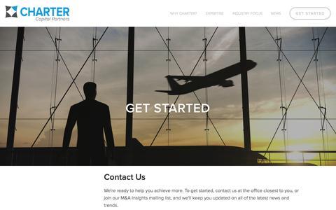 Screenshot of Contact Page chartercapitalpartners.com - Get Started — Charter Capital Partners - captured Nov. 5, 2014
