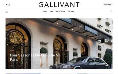 Screenshot of Home Page gallivantguide.com - Gallivant Guide | Online magazine for best travel, hotels, food, and culture. - captured Sept. 27, 2018