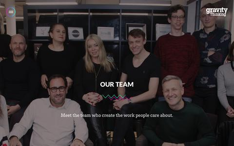 Screenshot of Team Page gravitythinking.co.uk - Our Team - Gravity Thinking - captured July 23, 2018