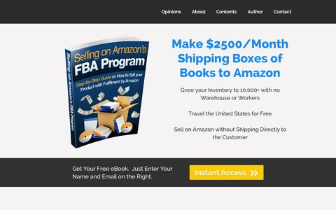 Screenshot of Home Page sellfba.com - Selling Books on Amazon's FBA Program - captured Sept. 23, 2014