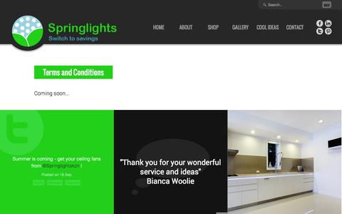 Screenshot of Terms Page springlights.net - LED Replacement Lighting | SpringLights - captured Sept. 30, 2014