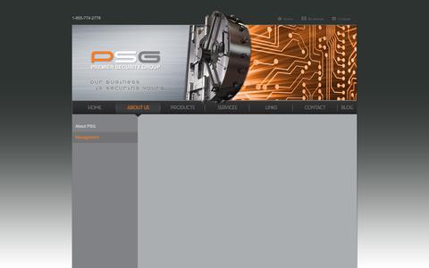 Screenshot of Team Page psgcal.com - Premier Security Group, Inc. - captured Sept. 29, 2018