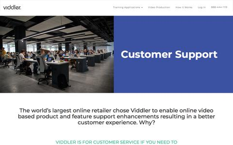 Screenshot of Support Page viddler.com - Measurable, Confidence Building Customer Support Training Using Video - captured April 1, 2018