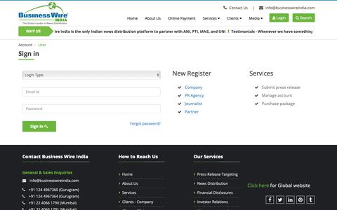 Screenshot of Pricing Page businesswireindia.com - Business Wire India - captured March 8, 2019