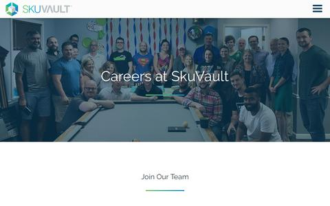 Screenshot of Jobs Page skuvault.com - Careers | SkuVault Inventory and Warehouse Management System - captured March 21, 2019