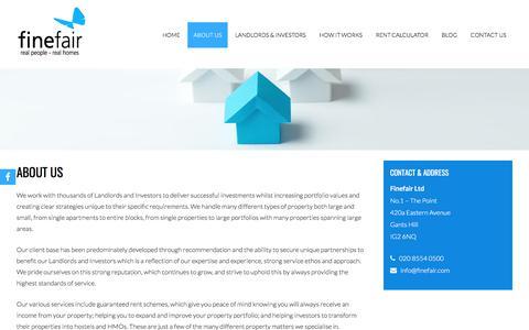 Screenshot of About Page finefair.com - About Us | Finefair Ltd - captured Oct. 13, 2017