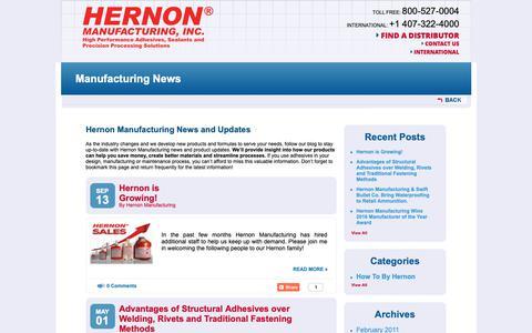 Screenshot of Press Page hernon.com - Manufacturing News | Florida Manufacturing News - captured Sept. 28, 2018