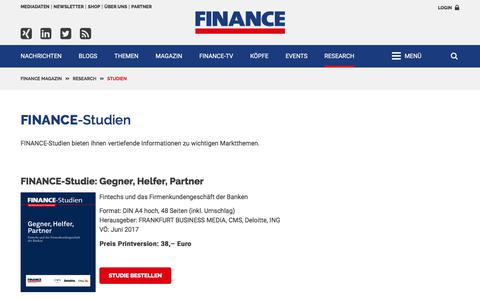 FINANCE-Studien-FINANCE Magazin