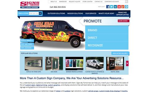 Custom Signs, Digital Printing, Graphics, Signage, Displays and More | Signs By Tomorrow | Sign Company, Custom Signage