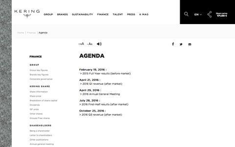 Agenda | Kering