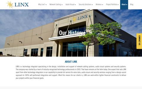 Screenshot of Locations Page teamlinx.com - History - Linx - captured April 7, 2019