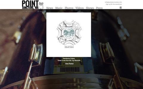 Screenshot of Home Page pointjuncturewa.com - Point Juncture, WA - captured Oct. 16, 2015
