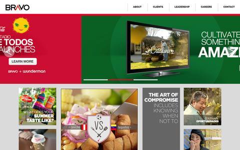 Screenshot of Home Page bebravo.com - Bravo | Be Bold, Be Bravo - captured Sept. 24, 2014