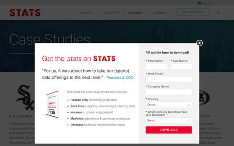 Screenshot of Case Studies Page stats.com - STATS Case Studies | World's Leading Sports Data & Technology Company | STATS - captured May 4, 2018
