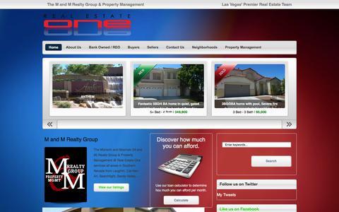 Screenshot of Home Page mandmlv.com - The M and M Realty Group & Property Management | Las Vegas' Premier Real Estate Team - captured Feb. 2, 2016