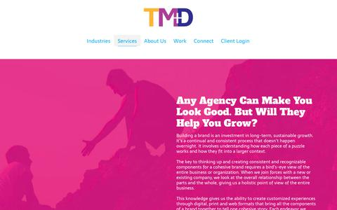 Screenshot of Services Page trontz.com - Marketing Services Overview   TMD Marketing Agency Services - captured Oct. 3, 2018